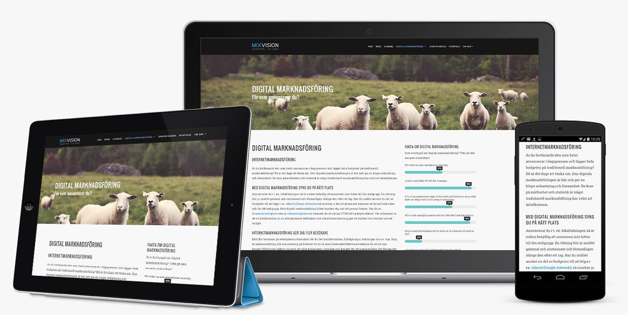 Så fungerar responsive webbdesign på olika skärmar