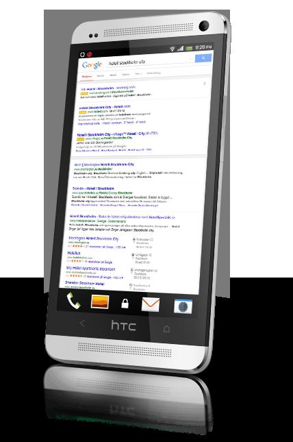 Sökmotoroptimering - fler och fler söker via sin mobil